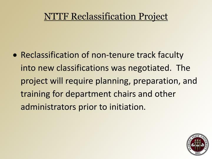 NTTF Reclassification Project