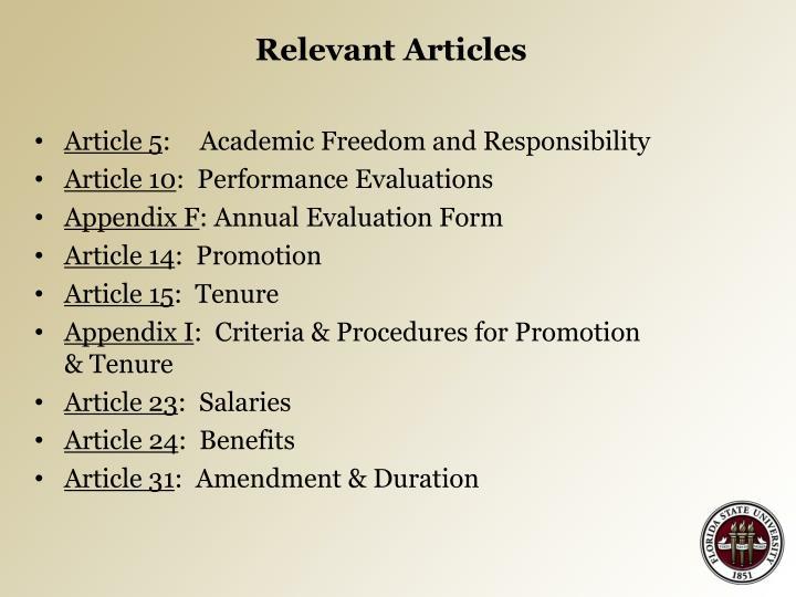 Relevant Articles