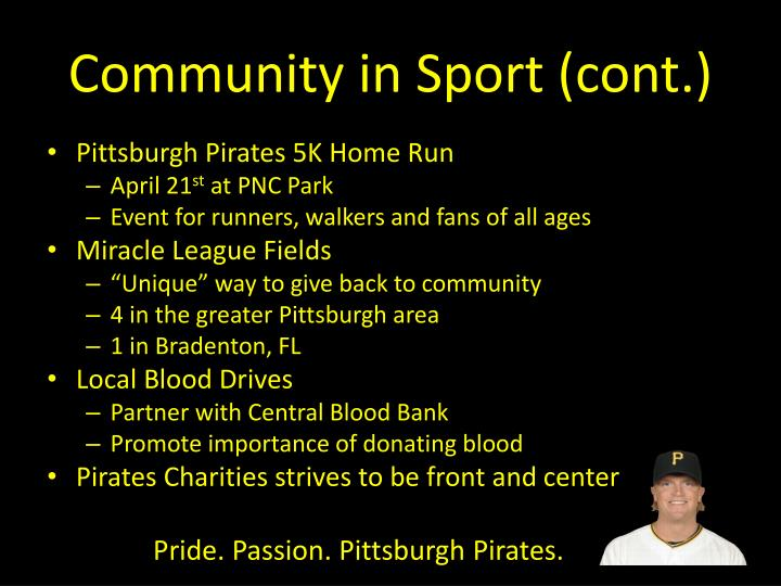 Community in Sport (cont.)