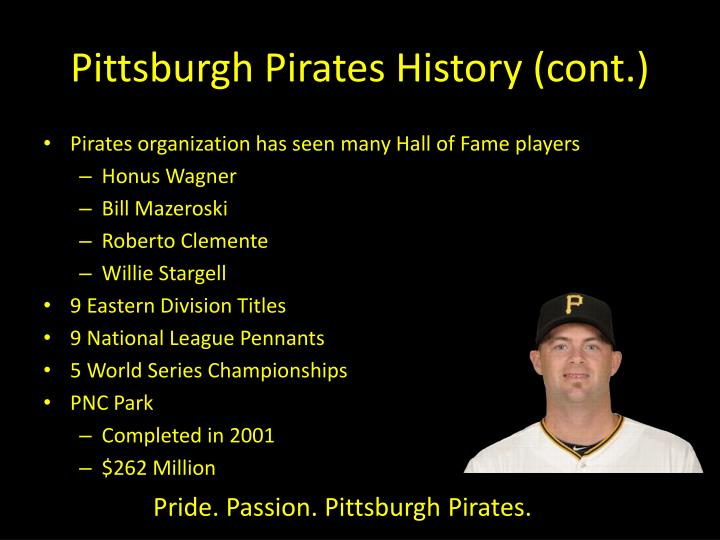 Pittsburgh Pirates History (cont.)
