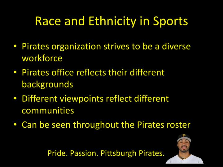 Race and Ethnicity in Sports