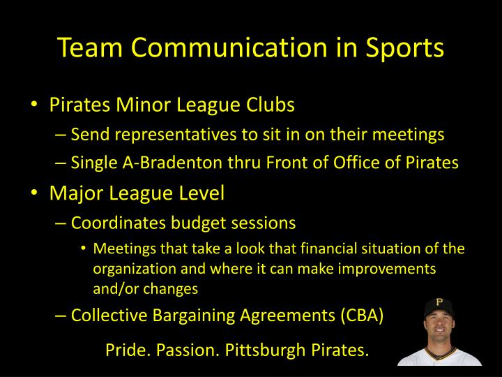 Team Communication in Sports