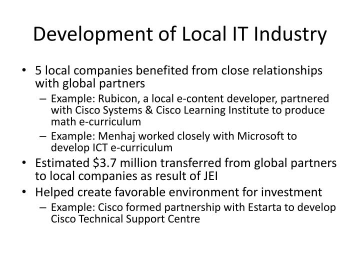 Development of Local IT Industry