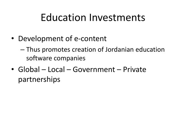 Education Investments