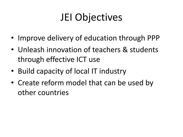 JEI Objectives