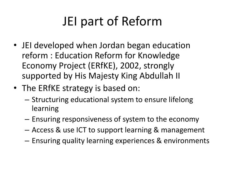 JEI part of Reform