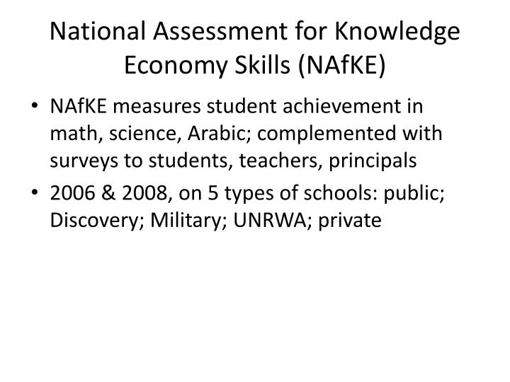 National Assessment for Knowledge Economy Skills (NAfKE)