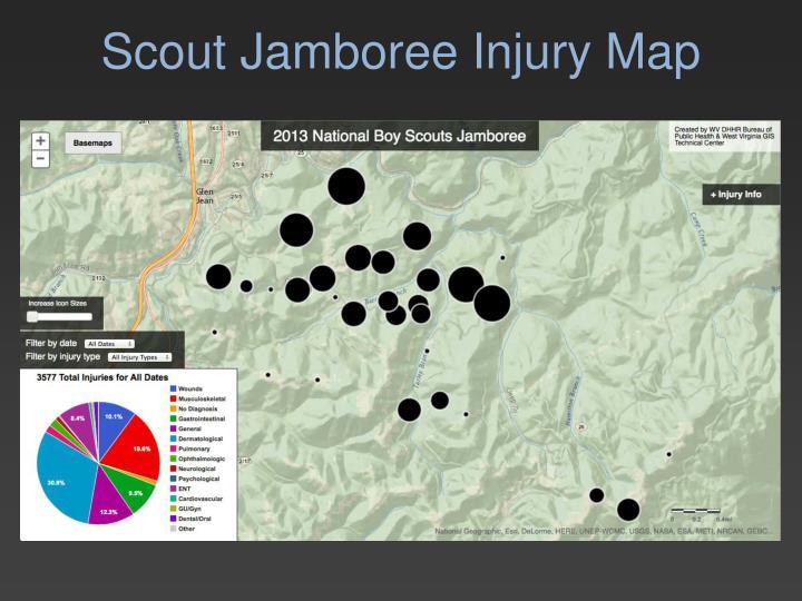 Scout Jamboree Injury Map