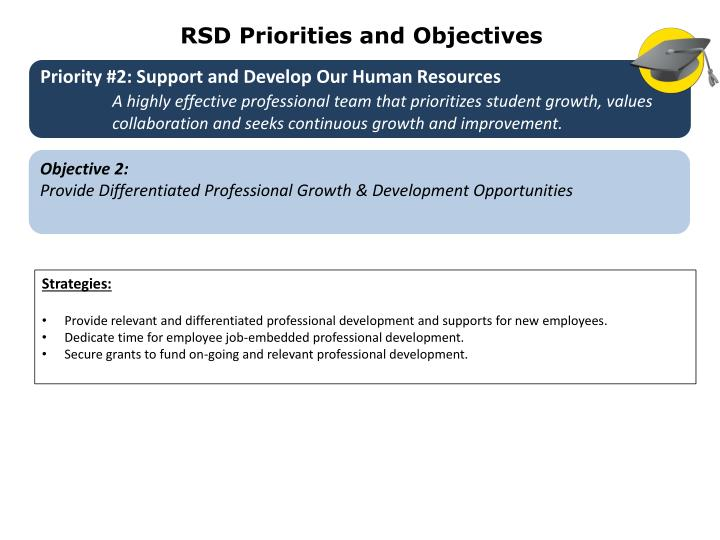 RSD Priorities and Objectives