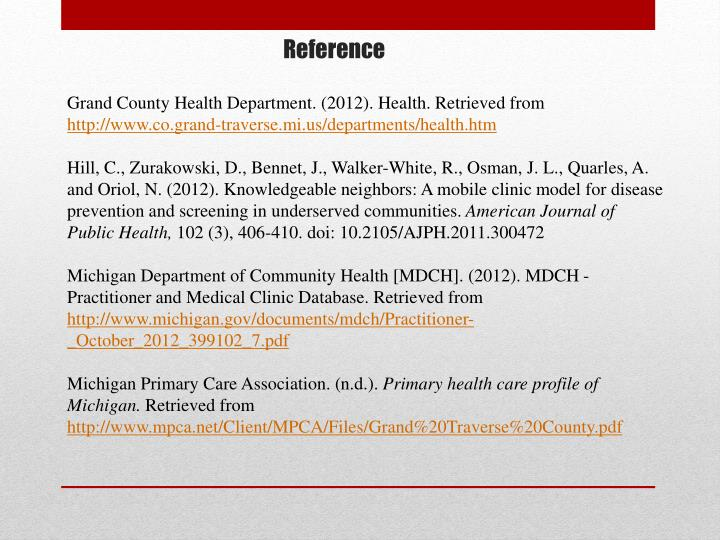Grand County Health Department. (2012). Health. Retrieved