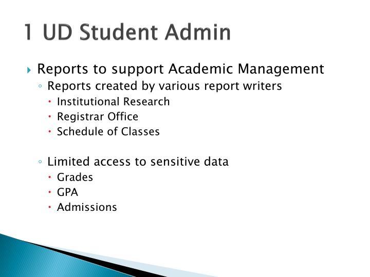 1 UD Student Admin