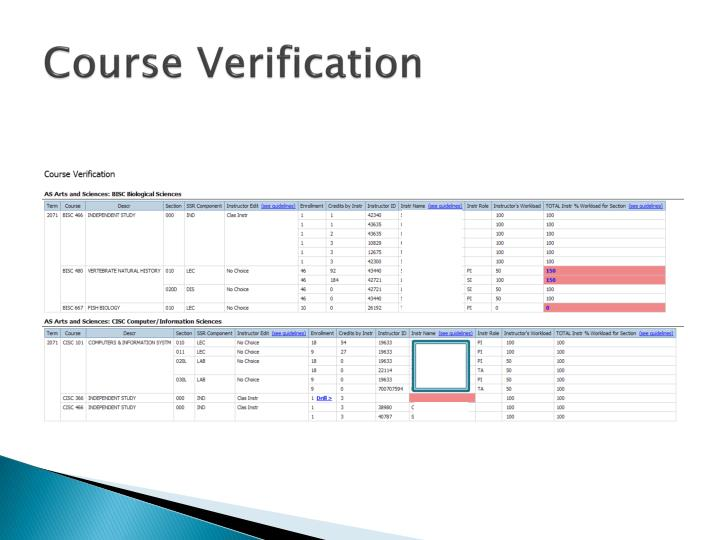 Course Verification