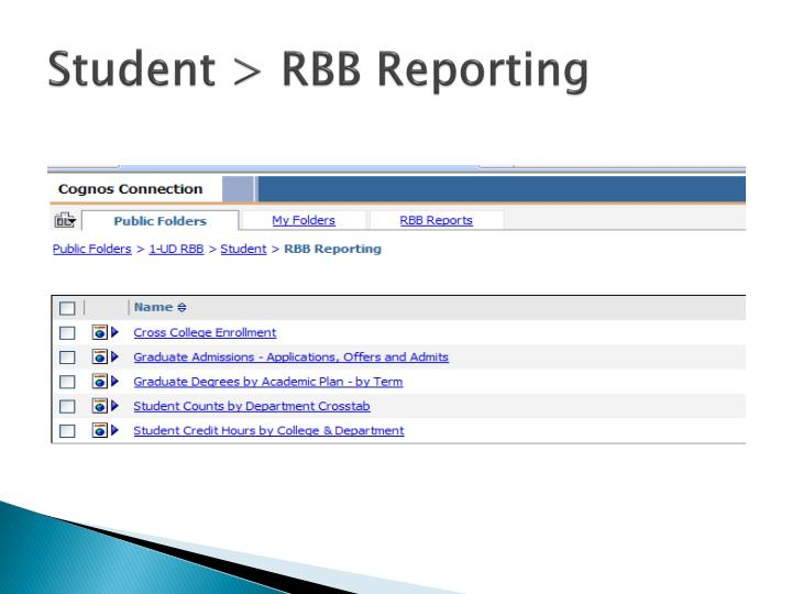 Student > RBB Reporting