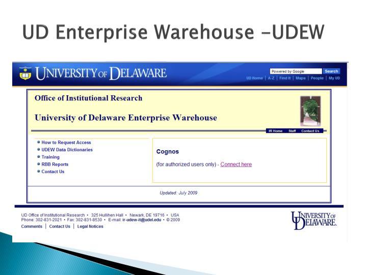 UD Enterprise Warehouse -UDEW
