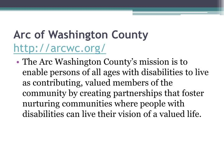Arc of Washington County