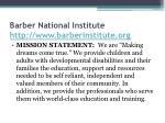barber national institute http www barberinstitute org