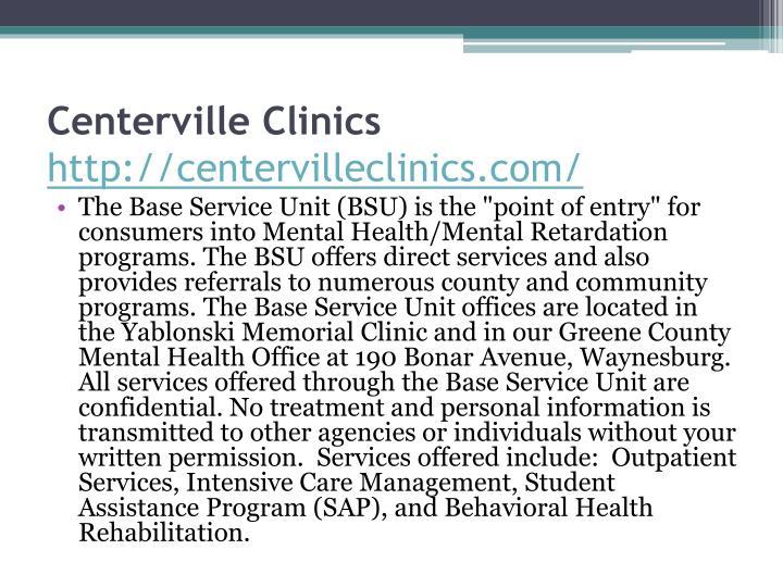 Centerville Clinics