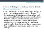 community college of allegheny county ccac http www ccac edu