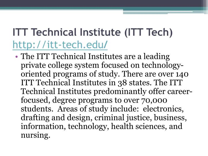 ITT Technical Institute (ITT Tech)