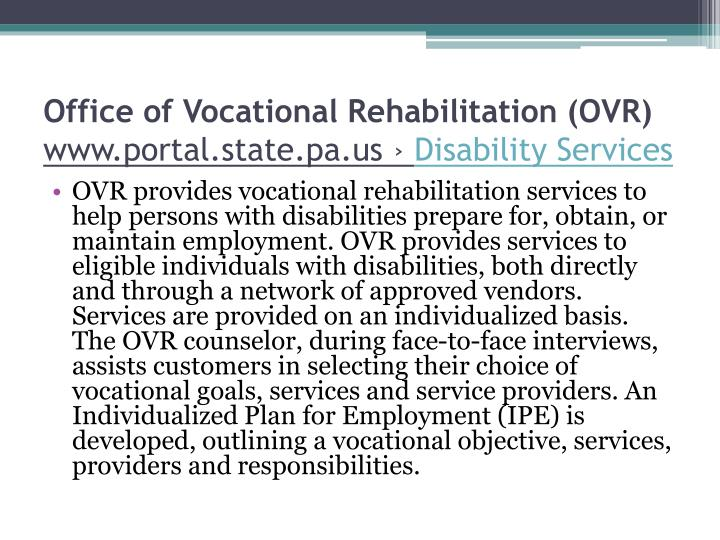 Office of Vocational Rehabilitation (OVR)