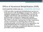 office of vocational rehabilitation ovr www portal state pa us disability services