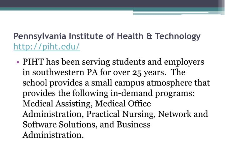 Pennsylvania Institute of Health & Technology