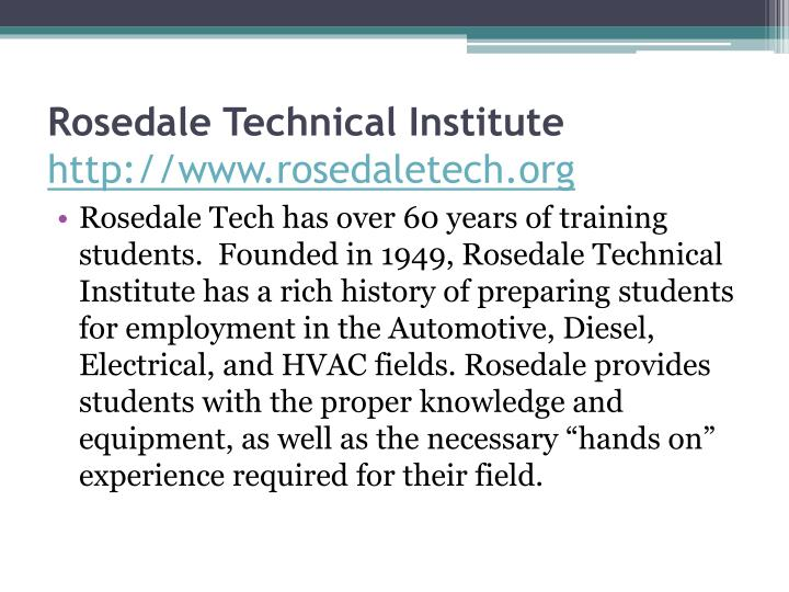 Rosedale Technical Institute
