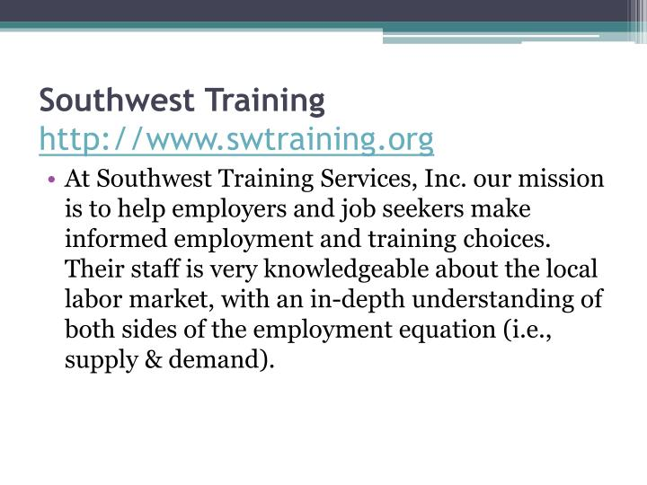 Southwest Training