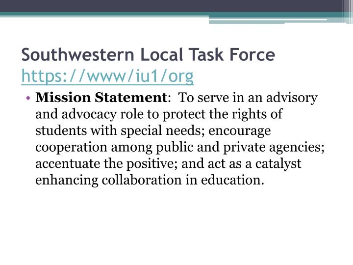 Southwestern Local Task Force