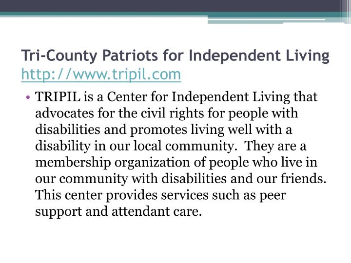 Tri-County Patriots for Independent Living