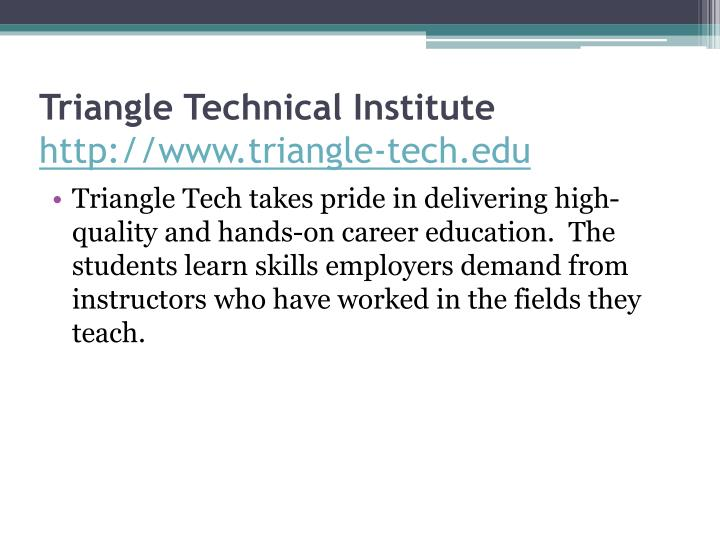 Triangle Technical Institute