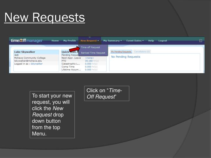 New Requests