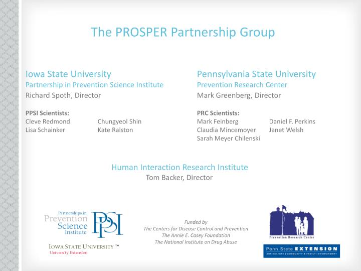 The PROSPER Partnership Group