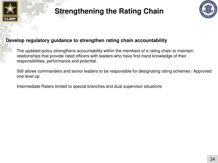 Strengthening the Rating Chain