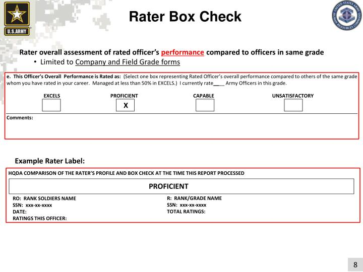 Rater Box Check