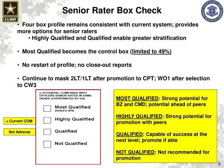 Senior Rater Box