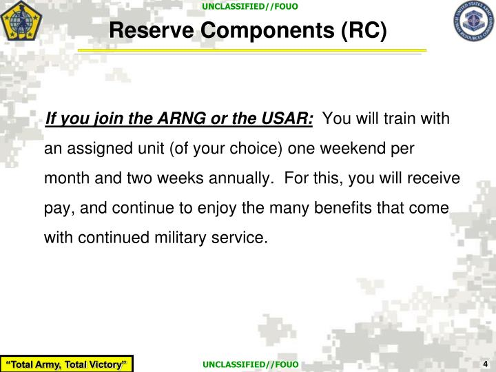 Reserve Components (RC)