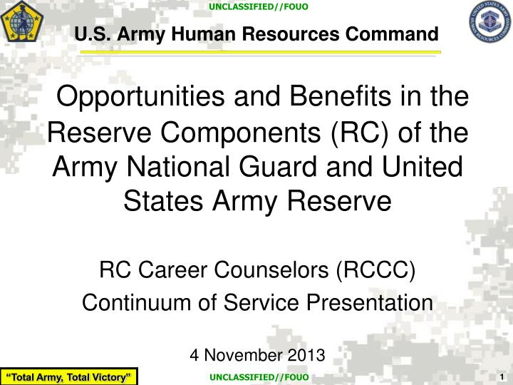 U s army human resources command