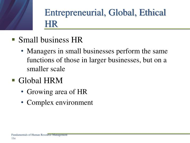 Entrepreneurial, Global, Ethical