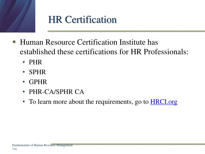 HR Certification