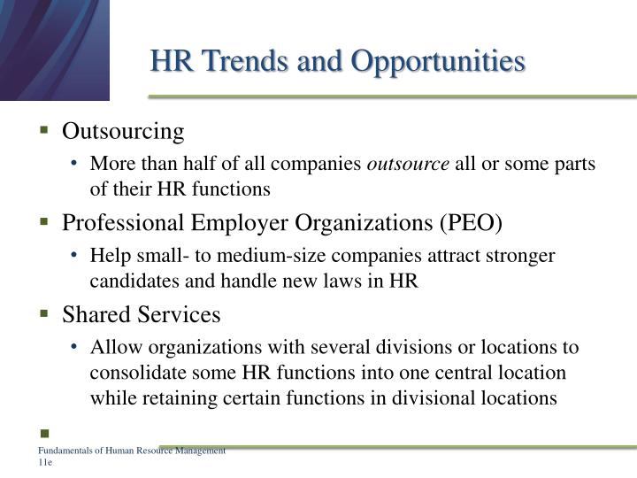 HR Trends and Opportunities