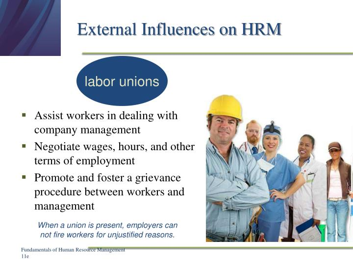 External Influences on HRM