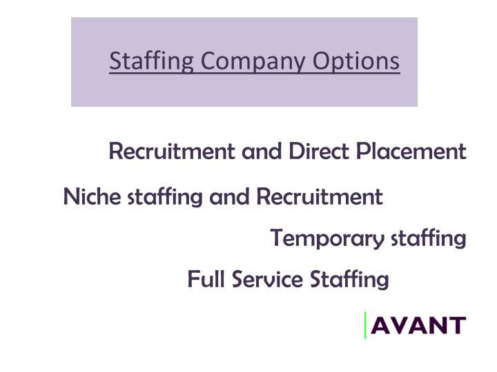 Staffing Company Options