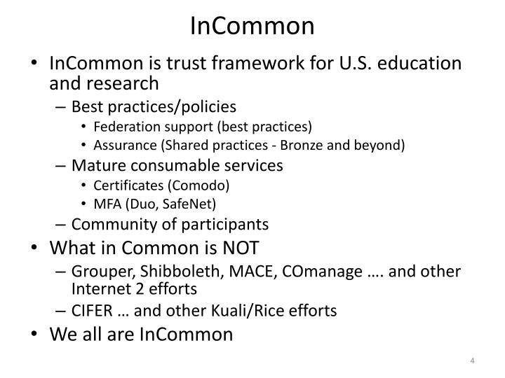 InCommon