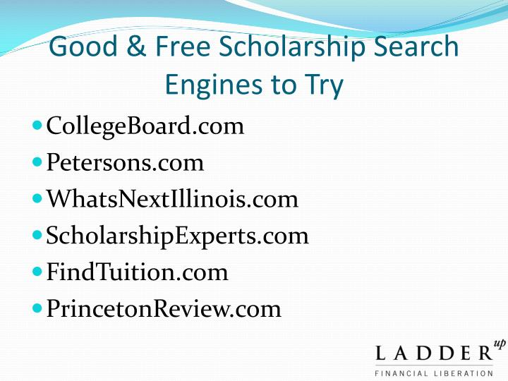 Good & Free Scholarship Search Engines to Try
