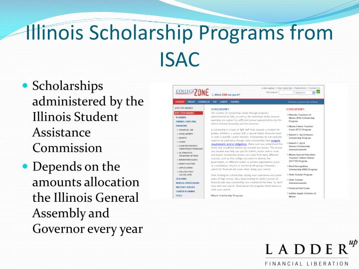 Illinois Scholarship Programs from ISAC