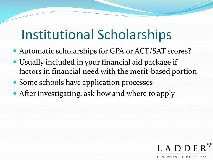 Institutional Scholarships