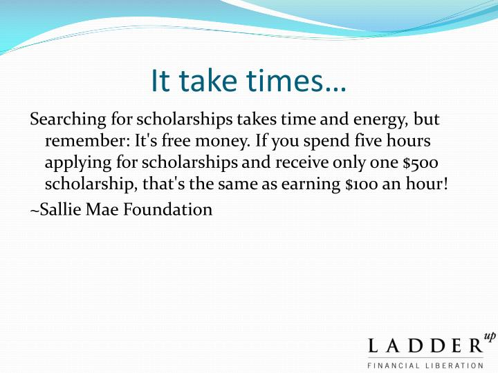 It take times…