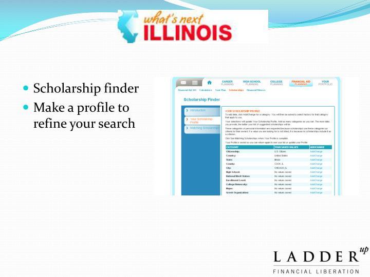 Scholarship finder