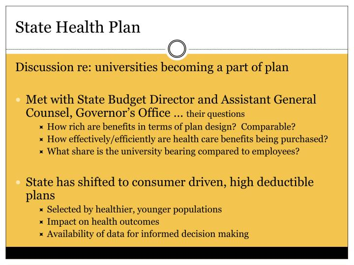 State Health Plan